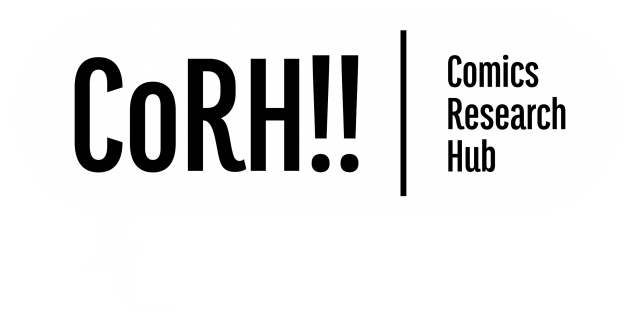 Comics Research Hub logo - black text on white background